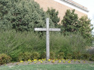 Figure 2: A cross outside of a conservative Christian Media organization in Virginia signifies its religious affiliation.