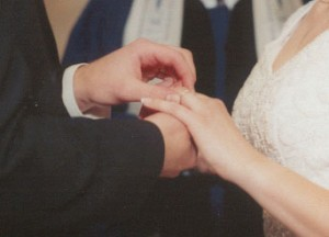 Figure 1: Exchanging rings and vows are recognizable parts of Western marriage rites of passage.