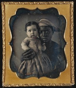 """Portrait of a Nurse and a Child"", daguerreotype by unknown artist, 1850, courtesy of J. Paul Getty Museum (open source)."
